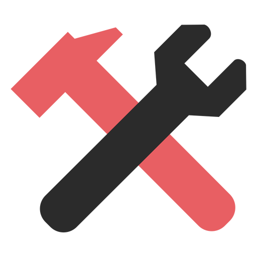 Icono de trazo de color de herramientas