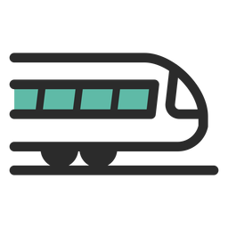 Train colored stroke icon
