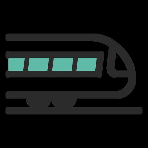Treinar o ícone de traço colorido Transparent PNG