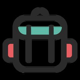 Mochila de viaje coloreada icono de trazo