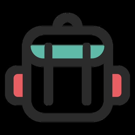 Icono de trazo de color de mochila de viaje Transparent PNG