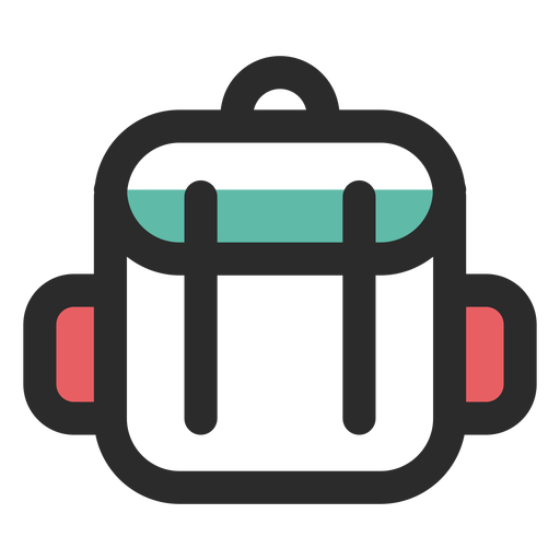 Travel backpack colored stroke icon Transparent PNG