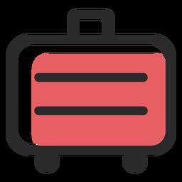 Icono de trazo de color de maleta de viaje