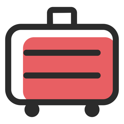 Ícone de traço colorido de mala de viagem Transparent PNG