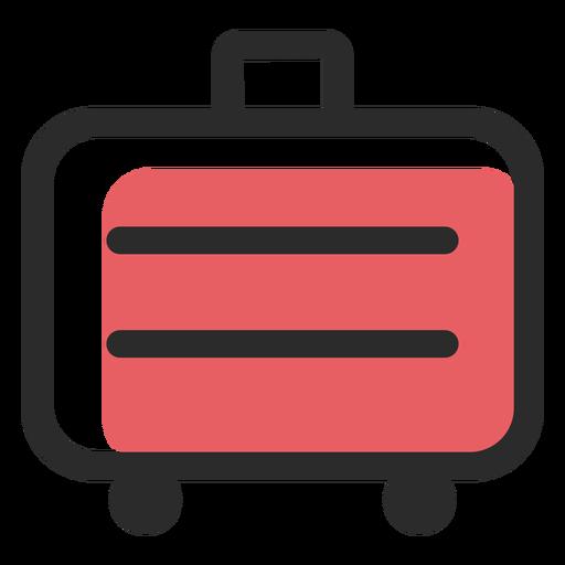 Maleta de viaje coloreada icono de trazo Transparent PNG