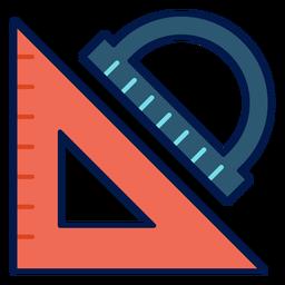 Icono de triángulo y transportador