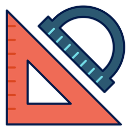 Triangle and protractor icon