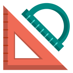 Dreieck- und Winkelmesserillustration