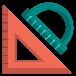 Ilustração de triângulo e transferidor