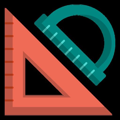 Ilustração de triângulo e transferidor Transparent PNG