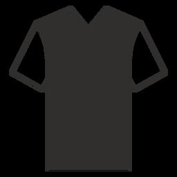 V cuello camiseta plana icono