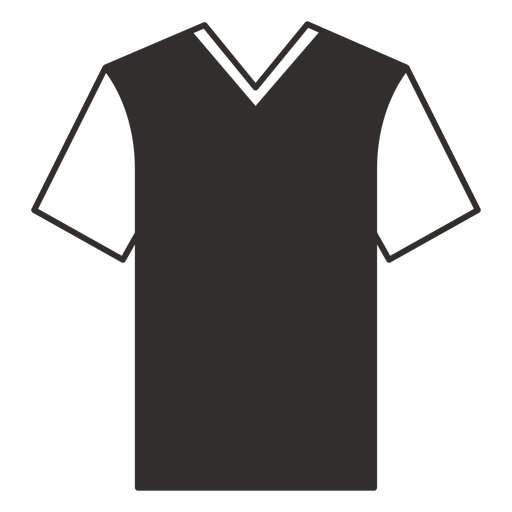 V neck t shirt flat icon Transparent PNG