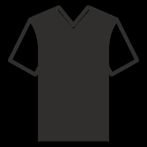 V neck t shirt flat icon