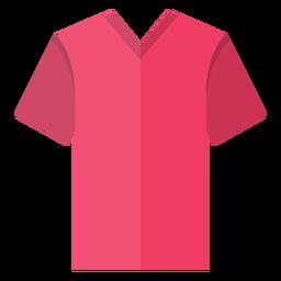 Icono de camiseta con cuello en V