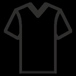 V cuello camiseta icono de trazo
