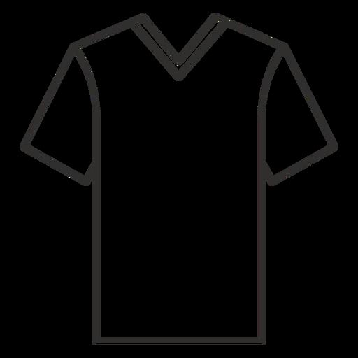 V cuello camiseta icono de trazo Transparent PNG