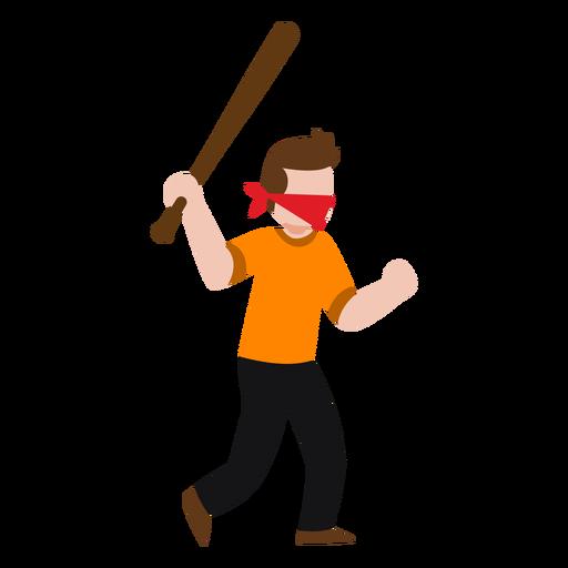 Personagem de vândalo segurando o taco de beisebol Transparent PNG