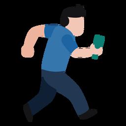 Personagem de vândalo segurando a garrafa quebrada
