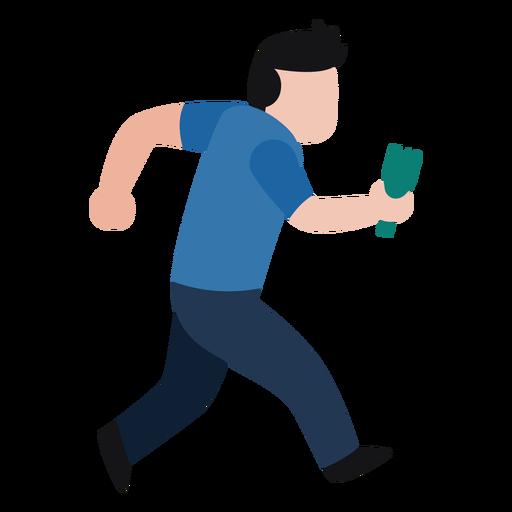 Vandal character holding broken bottle Transparent PNG