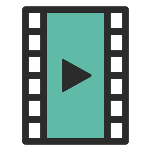 Ícone de traço colorido de player de vídeo Transparent PNG