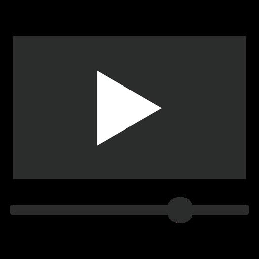 Ícone plano de interface de player de vídeo Transparent PNG
