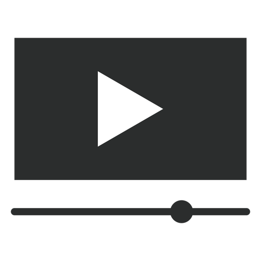 Video player interface flat icon Transparent PNG