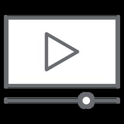 Icono de trazo de la interfaz del reproductor de video