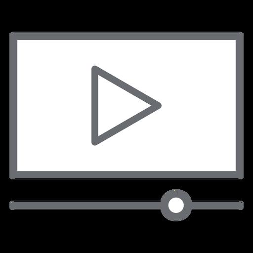 Ícone de traço da interface do player de vídeo Transparent PNG