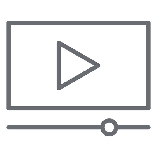 Video player interface stroke icon Transparent PNG
