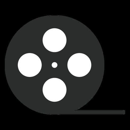 Ícone plana de carretel de fita de vídeo Transparent PNG