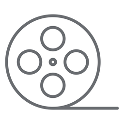 Video tape reel stroke icon