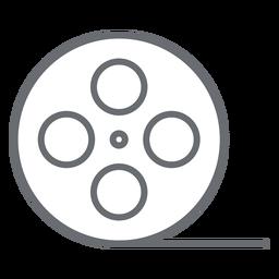 Video tape reel stroke icon