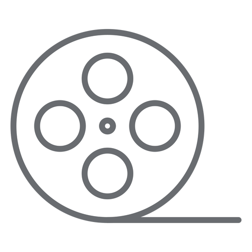 Video tape reel stroke icon Transparent PNG