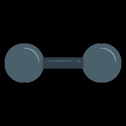 Ícone de haltere vintage Transparent PNG