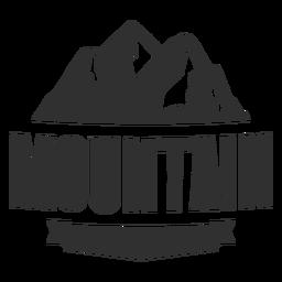 Logotipo de montaña de la vendimia