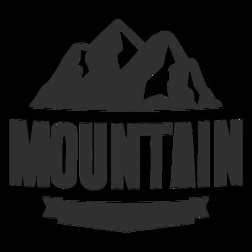 Logo de montaña vintage Transparent PNG