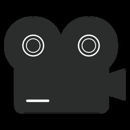 Ikonen-Multimediaikonen der Weinlesefilmkamera flache