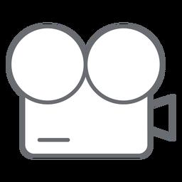 Icono de trazo de cámara de película vintage