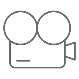 Vintage movie camera stroke icon