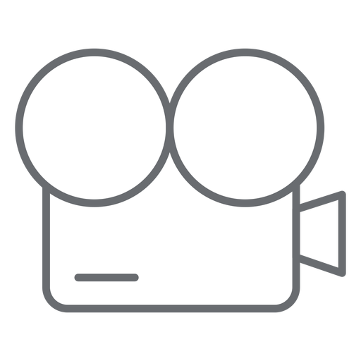 Vintage movie camera stroke icon Transparent PNG