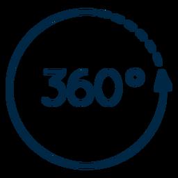 Realidad virtual 360 trazo circular