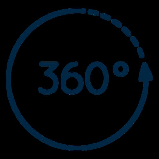 Realidad virtual 360 trazo circular Transparent PNG
