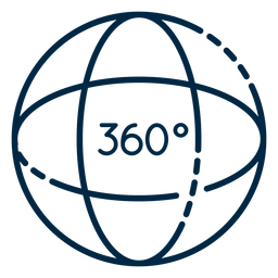 Curso de esfera de realidade virtual 360