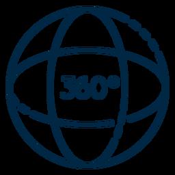 Realidad virtual 360 esfera trazo