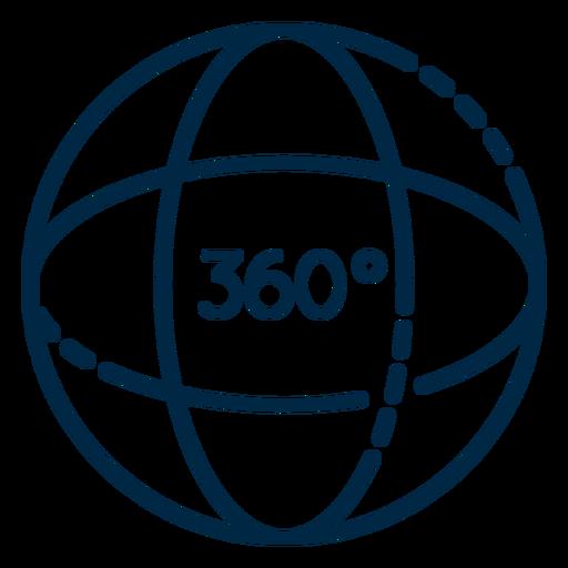 Realidad virtual 360 esfera trazo Transparent PNG