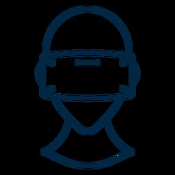 Virtual reality glasses stroke