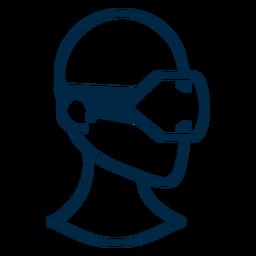 Trazo de auriculares de realidad virtual