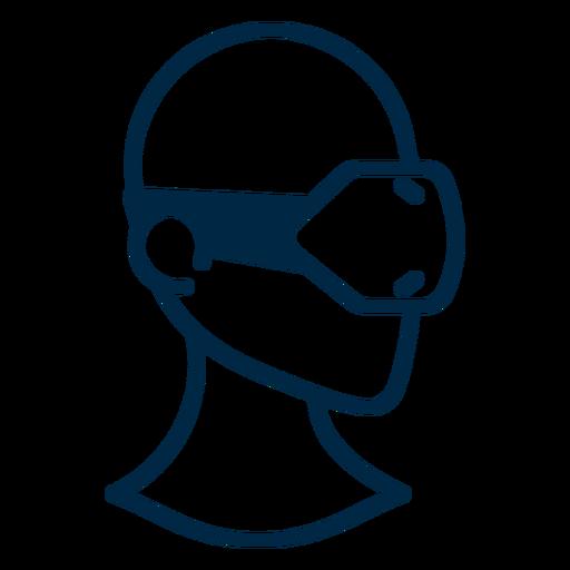 Trazo de auriculares de realidad virtual Transparent PNG