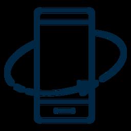 Realidad virtual rotar el trazo del teléfono inteligente
