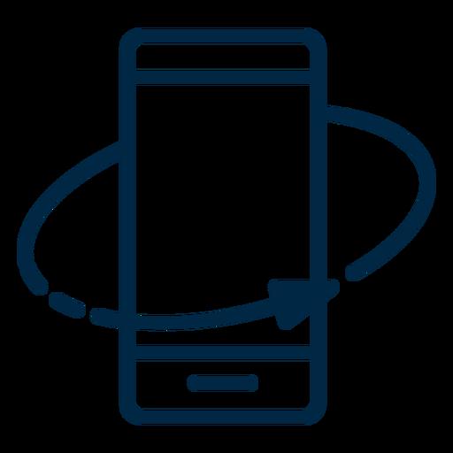 Realidad virtual rotar el trazo del teléfono inteligente Transparent PNG